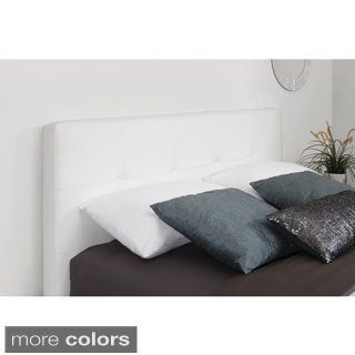 Dorel Living Button Tufted Blended Leather Headboard