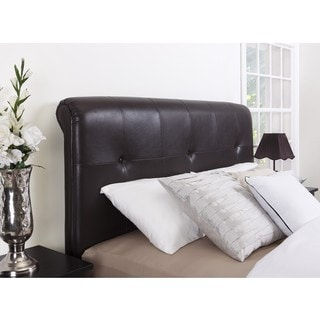 Button Tufted Blended Leather Headboard