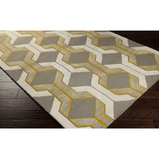 Hand-tufted Gregory Chain Link Wool Area Rug (5' x 7'6)