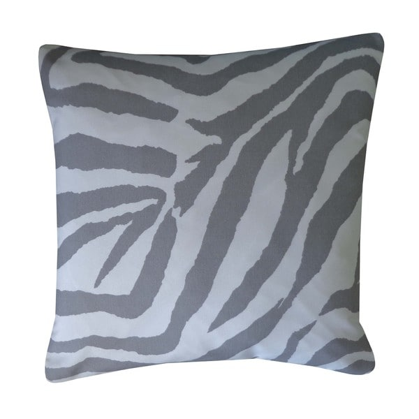 Zebra Grey Animal Print 20x20-inch Pillow