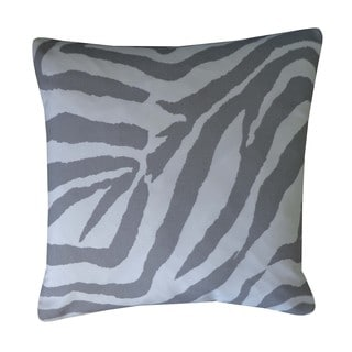 Zebra Grey Animal Print 20x20-inch Pillow