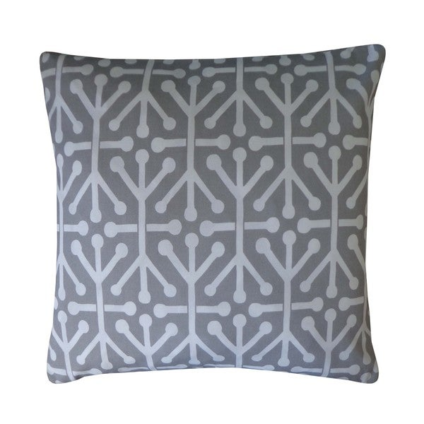 Connect Grey Geometric 20x20-inch Pillow