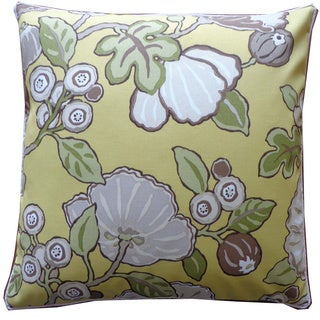 Happy Chart Floral 20x20-inch Pillow