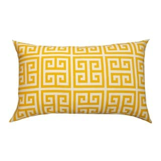 Myconos Yellow Geometric 12x20-inch Pillow