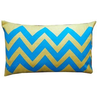 Tip Yellow Kids Chevron 12x20-inch Pillow