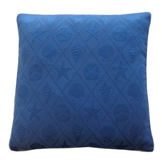 Shell Blue Nautical 20x20-inch Pillow