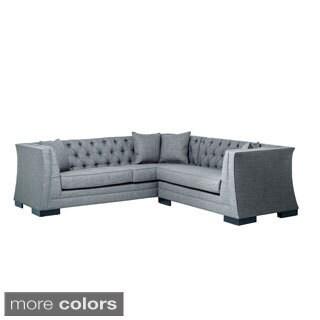 Inncdesign Casanova Mid-century Tufted Sectional Sofa