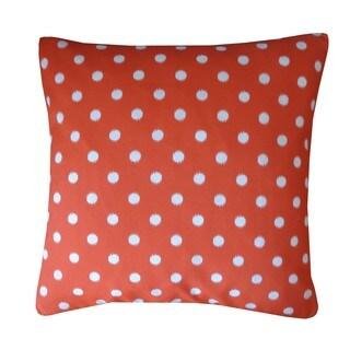 Circle Orange Polka Dot 20x20-inch Pillow