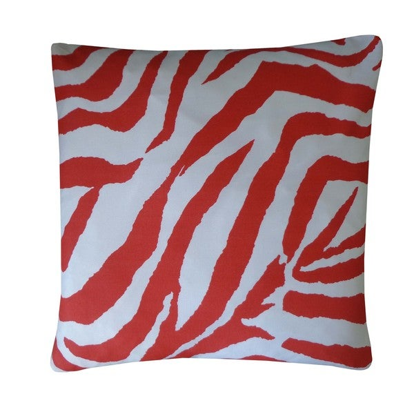 Zebra Red Animal Print 20x20-inch Pillow