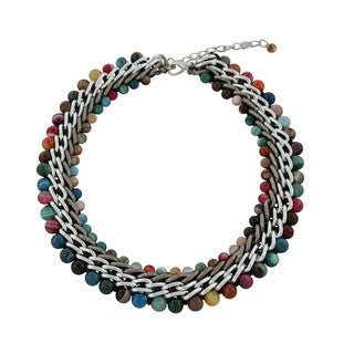 Gardenia Jewelry Multi-colored Agate Beads Necklace