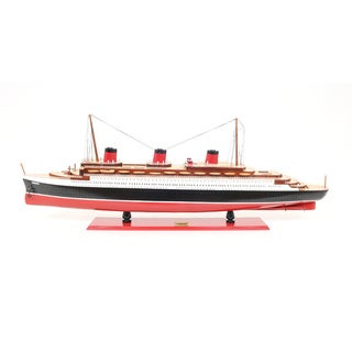Hand-painted T.S.S. Normandie Model Ship