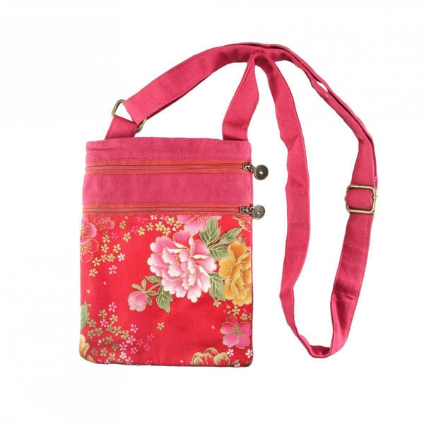 Handmade Cotton Flower Shoulder Bag (China)
