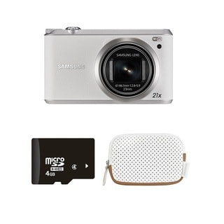 Samsung WB350F Smart White Digital Camera 4GB Manufacturer Bundle