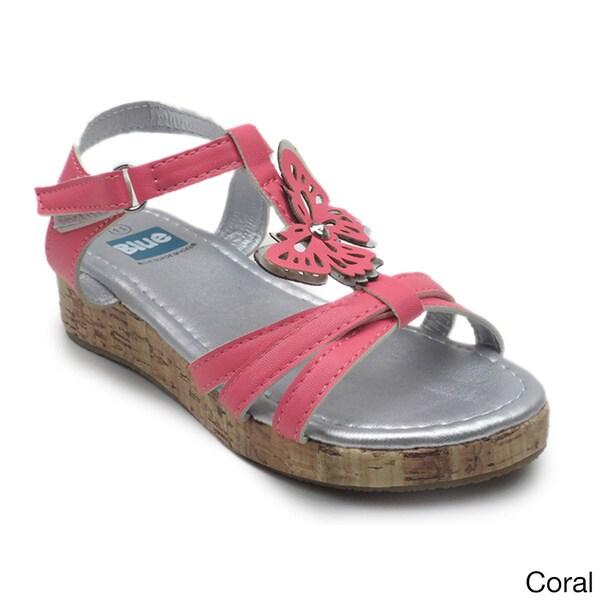 Blue Children's 'K Columbus' Butterfly T-strap Sandal