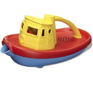 Green Toys Tug Boat in Yellow