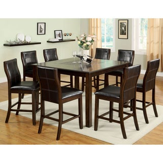 Furniture of America Yani 7-Piece Mosaic Insert Counter Height Dining Set