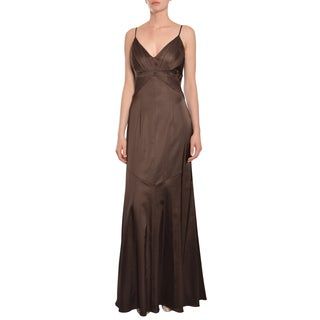 David Meister Women's Chic Chocolate Fit and Flare Gown Dress
