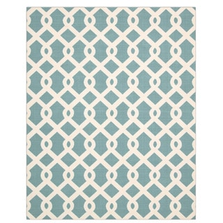Nourison Waverly Sun and Shade Poolside Blue Rug (7'9 x 10'10)