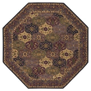 Nourison India House Navy Rug (7'9 x 7'9) Octagon