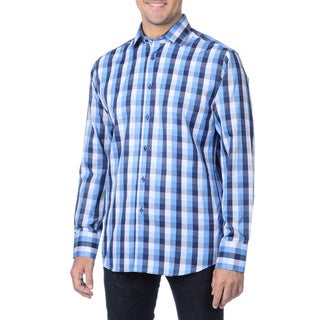 Di Nero Milano Men's 'Bergamo' Plaid Woven Shirt