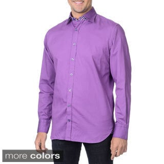 Franco Negretti Men's Solid Woven Shirt