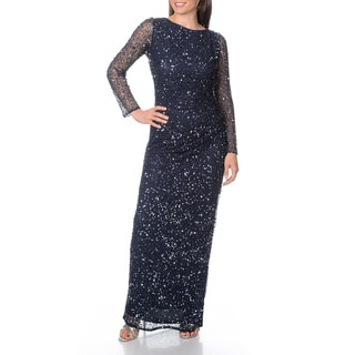 Patra Women's Allover Beaded / Sequin Evening Gown