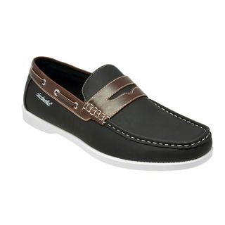 Akademiks Men's 'Dennis' Black Boat Shoes