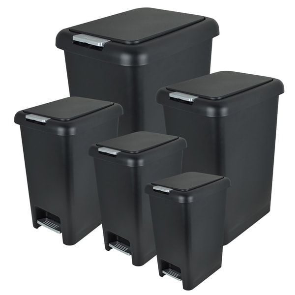 Modern Home DDT236 Deluxe Dual Functioning Trash Can Set