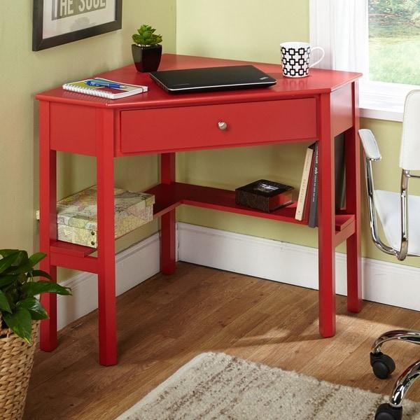 Simple Living Ellen Red Corner Desk 16352531 Overstock