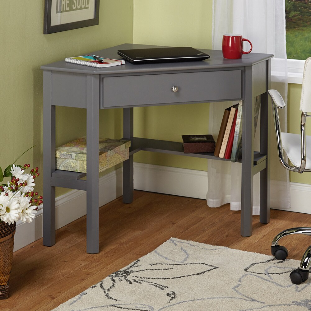Simple Living Ellen Grey Corner Desk Overstock Shopping