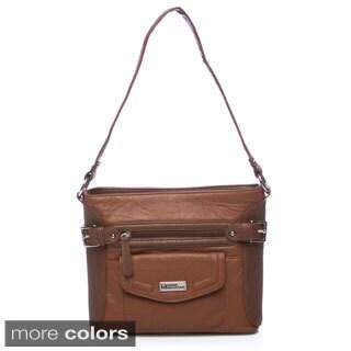 Stone Mountain Leather Stockbridge Bucket Tote Handbag