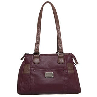 Stone Mountain Greenwich Leather Double Handle Satchel Handbag