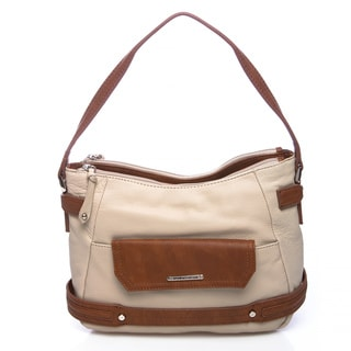 Stone Mountain Berkeley Taupe Leather Hobo Handbag