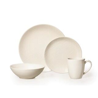 Mikasa Gourmet Basics Ridgewood White 16-piece Dinnerware Set