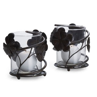 Mikasa 5-inch Rustic Flower Votives (Set of 2)