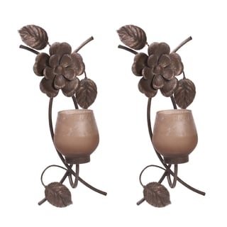 Mikasa 15-inch Rustic Flowers Sconces (Set of 2)