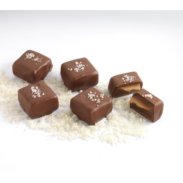 Amella Gray Sea Salt Caramels in Milk Chocolate (Case of 15)