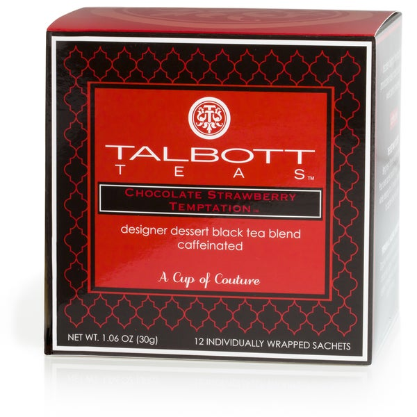 Chocolate Strawberry Temptation Black Tea Sachets (Case of 6)