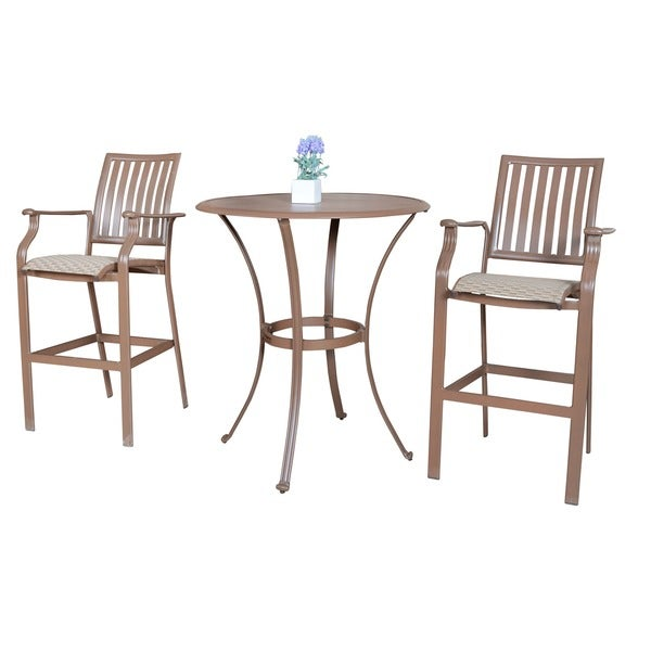 Panama Jack Island Breeze 3-piece Slatted Pub Table Set 13250500