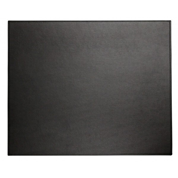 Midnight Black Faux Leather Table Mat
