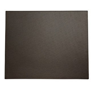 Espresso Brown Faux Leather Table Mat