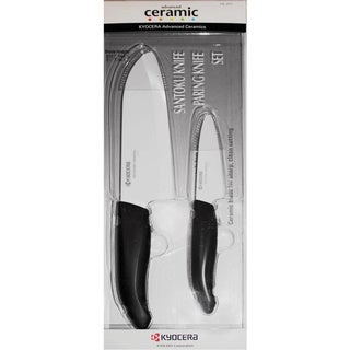 Kyocera FK-2PC-WH4 Revolution Paring and Santoku Knife Set in Acetate Box