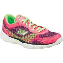 Women's Skechers GOrun Sonic Hot Pink/Green