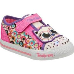 Girls' Skechers Twinkle Toes Shuffles Critter Buds White/Multi