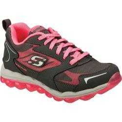 Girls' Skechers Skech-Air Bizzy Bounce Gray/Hot Pink