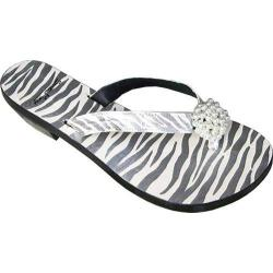 Women's Susan Mango Leather Zebra Black/White