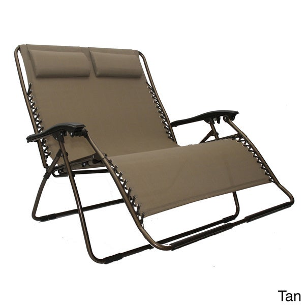 Loveseat Lounger Zero Gravity Chair Recliner Pool Chaise