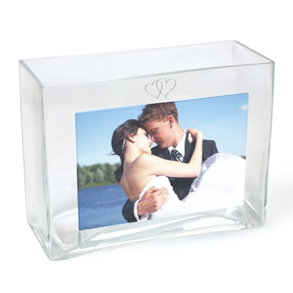 Wedding Reception Glass Photo Vase