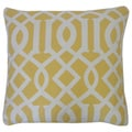 Lattice Yellow Geometric 20x20-inch Pillow