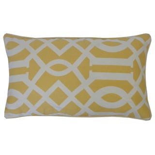 Lattice Yellow Geometric 12x20-inch Pillow
